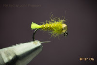 Tag Jig (chartreuse & olive)